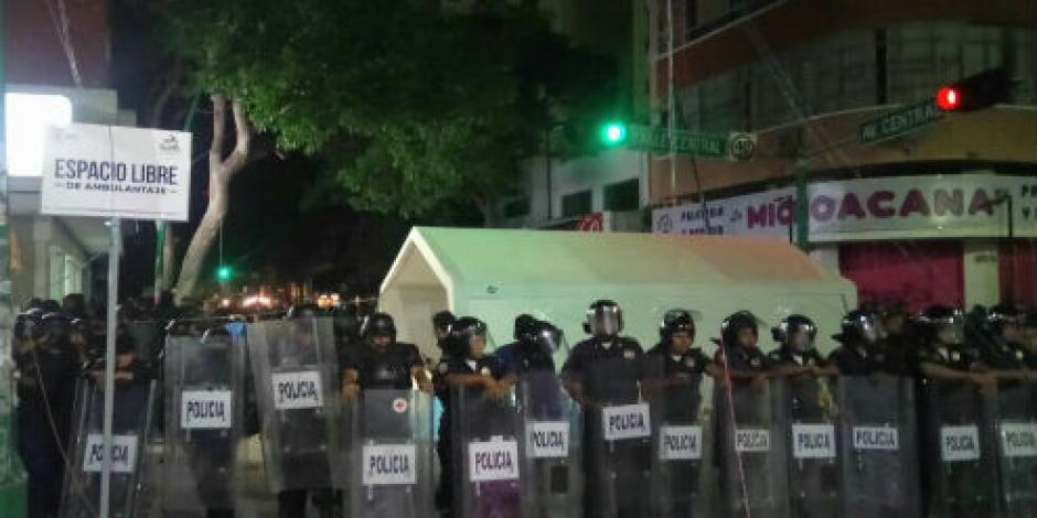 Desalojan a maestros en Tuxtla Gutiérrez tras una semana de plantón