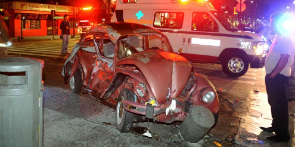 Madrugada de accidentes en el Valle de México deja 2 personas muertas