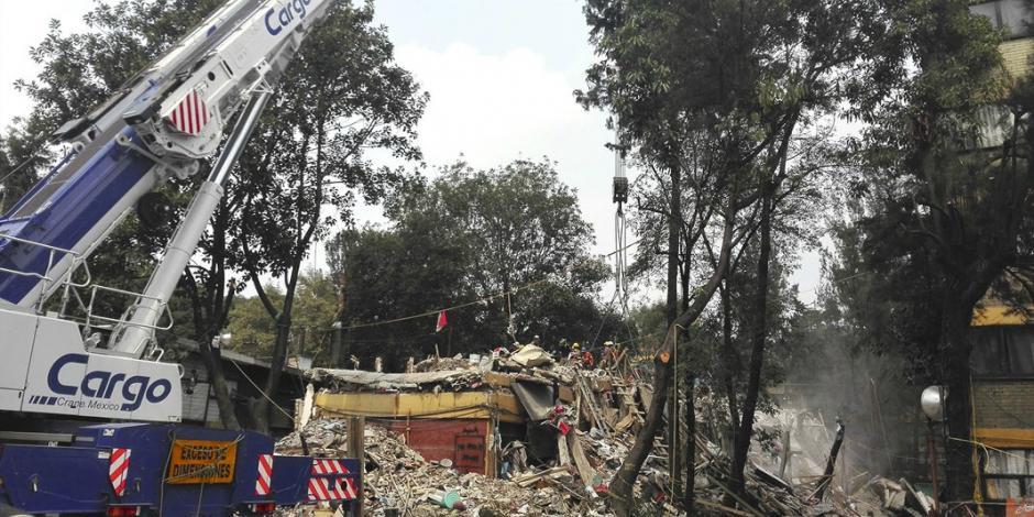 Se agotó esperanza en  el edificio de Tlalpan