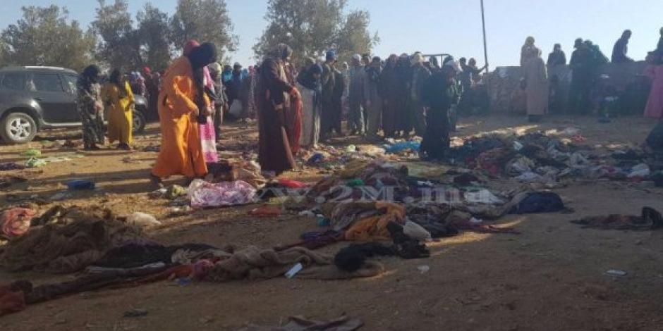 Por hambre ocurre estampida humana en Marruecos; hay 17 muertos