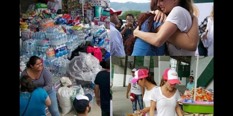 Anahí pide donaciones para damnificados de Chiapas
