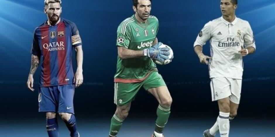Messi, Ronaldo y Buffon, candidatos a Mejor Jugador de la UEFA