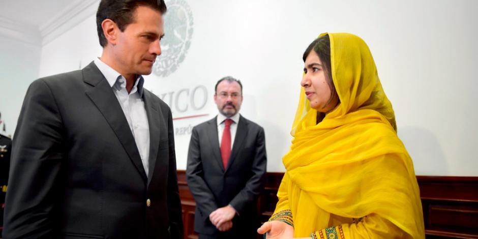 Presidente EPN se reúne con Malala Yousafzai