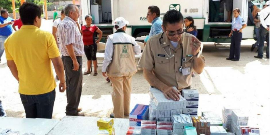 Garantiza IMSS flujo de medicamentos en Chiapas y Oaxaca tras sismo