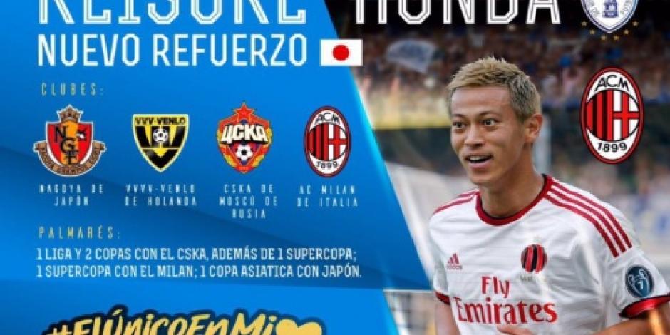 Japonés Keisuke Honda ficha con el Pachuca