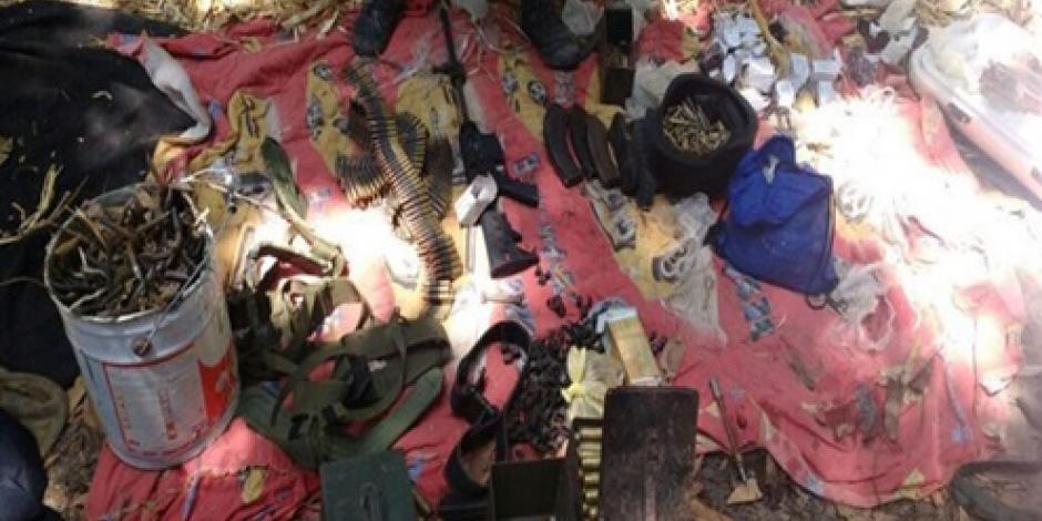 Aseguran armas de alto poder en almacén de Sinaloa