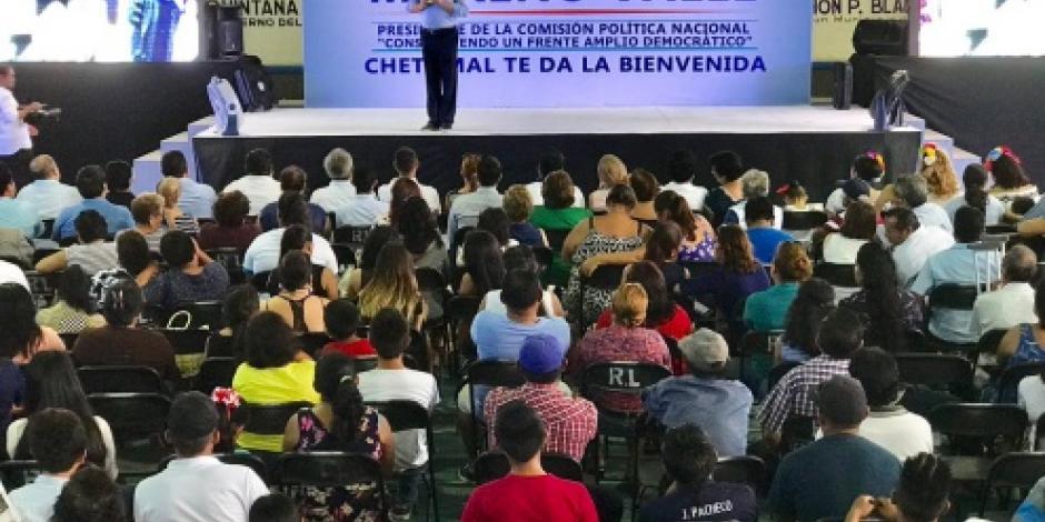 Debemos ser nosotros los que marquemos el rumbo para construir un nuevo México, dice Moreno Valle