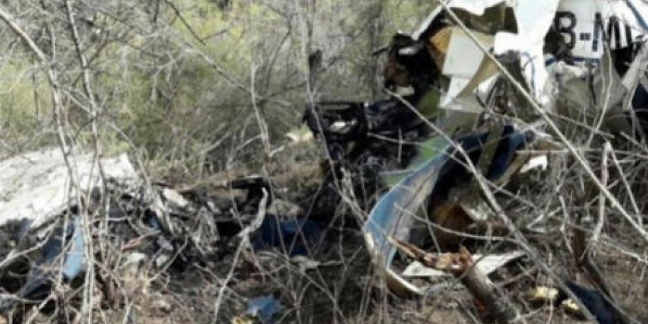 Mueren siete al caer avioneta en Sinaloa