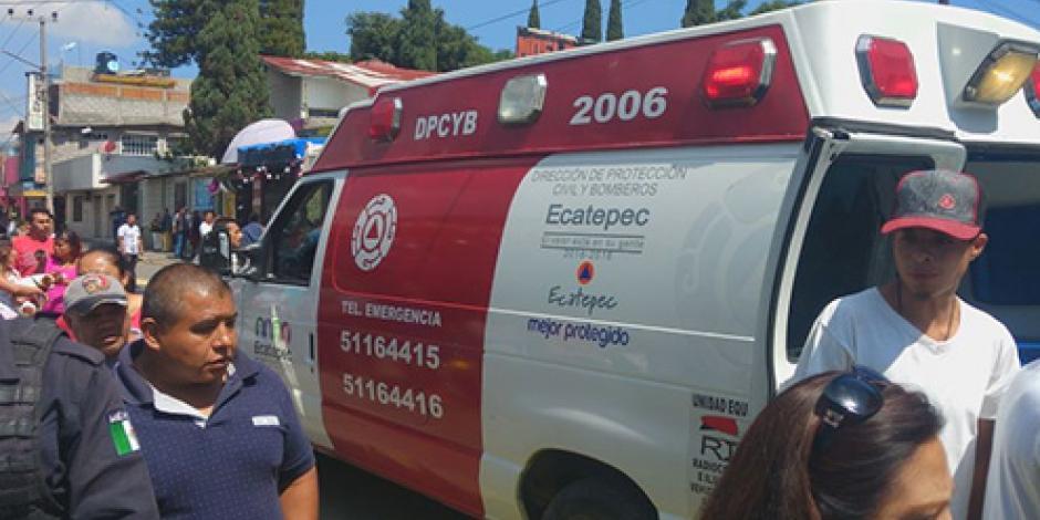 Deja 10 heridos explosión de pirotecnia en Ecatepec