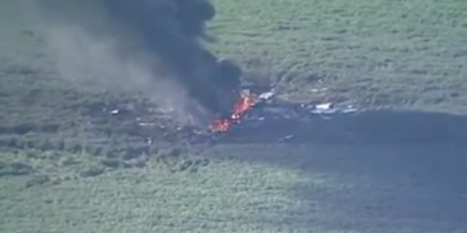 Mueren 16 personas al estrellarse avión militar en EU
