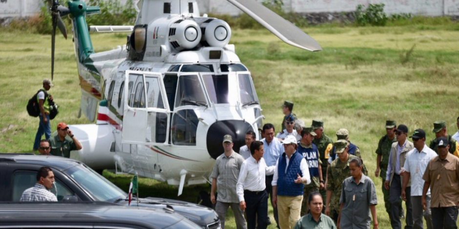 Arriba EPN a Morelos para evaluar daños tras sismo
