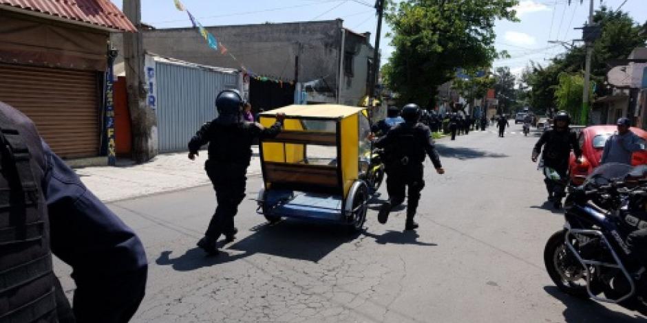 Por petición del delegado, aplican operativo contra mototaxistas en Xochimilco