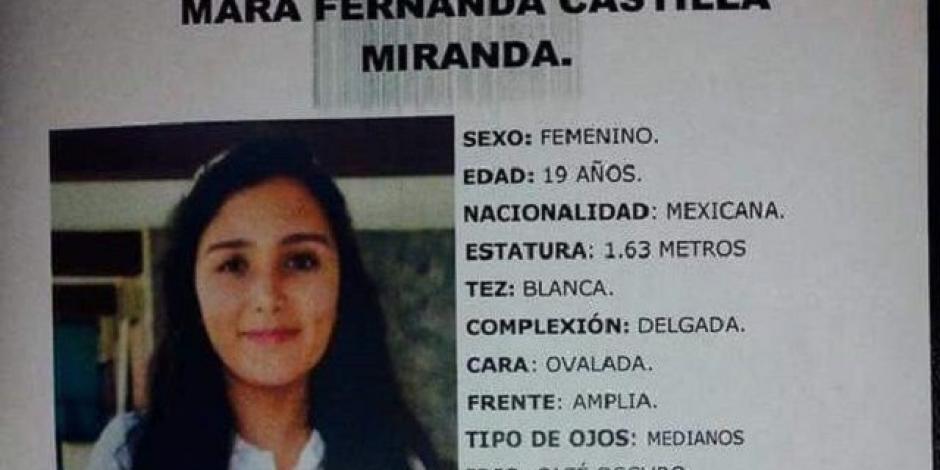 Investigan si desaparición de Mara se relaciona con trata de personas