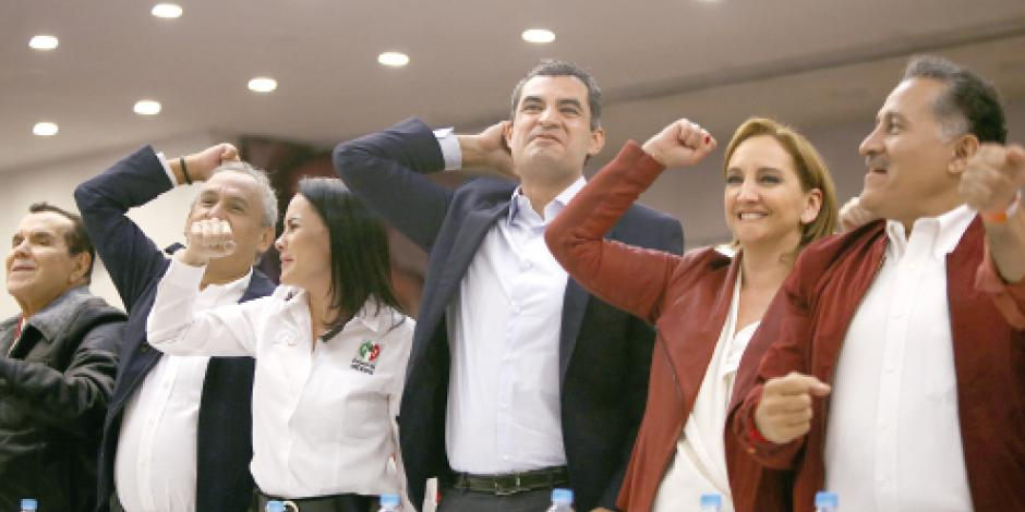 Beltrones y Gamboa cierran filas con retiro de candados a no militantes del PRI
