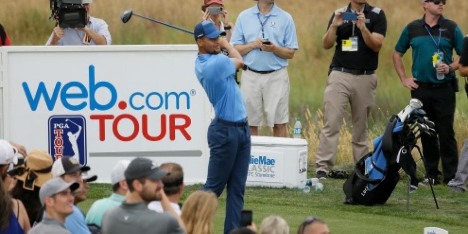 De astro de la NBA a golfista profesional; Stephen Curry impresiona en su debut