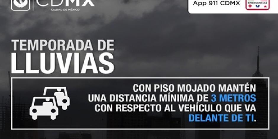 Se registra lluvia al poniente y sur de la Ciudad de México