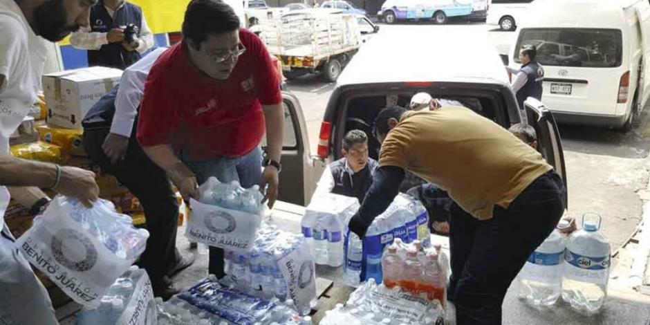 Benito Juárez apoya a afectados tras sismo
