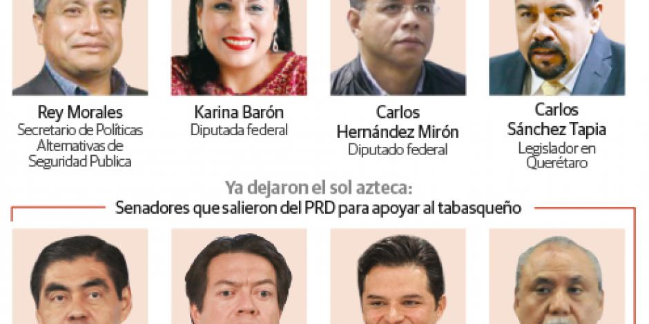 PRD retira derechos a 4 afines a AMLO
