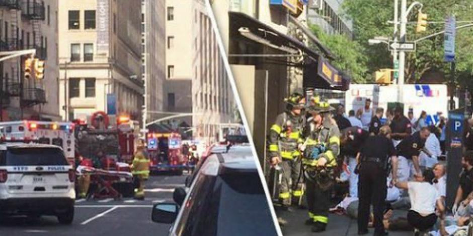 Explosión deja como saldo 35 personas heridas en Nueva York