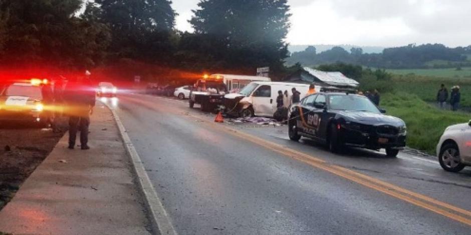 Cierre parcial en carretera México-Cuernavaca por accidente
