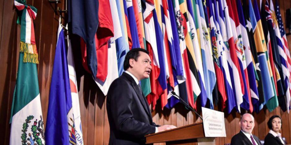 Bajan en 30% exhortos de CNDH a fuerzas federales, indica Osorio