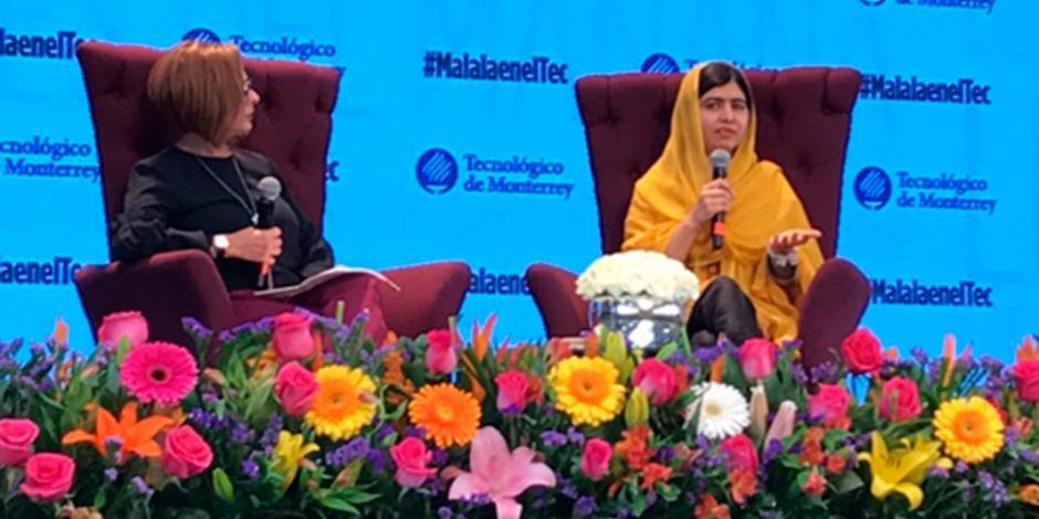Soy la voz de los pequeños, dice Malala en México