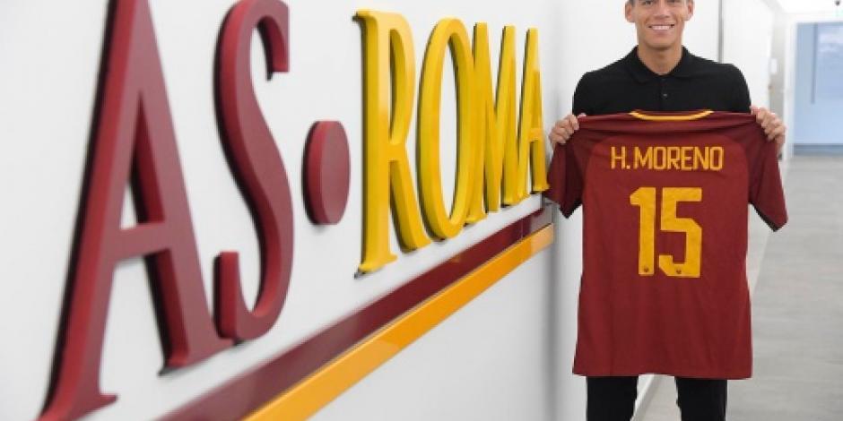 Defensa Héctor Moreno llega al AS Roma, portará el número 15
