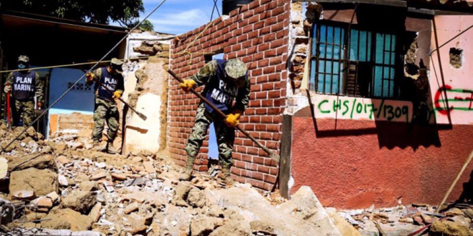 Suman 300 mil damnificados en Oaxaca y Chiapas por sismo