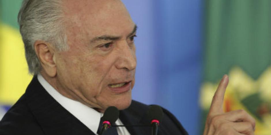 Acusa fiscal de Brasil a Temer por corrupción