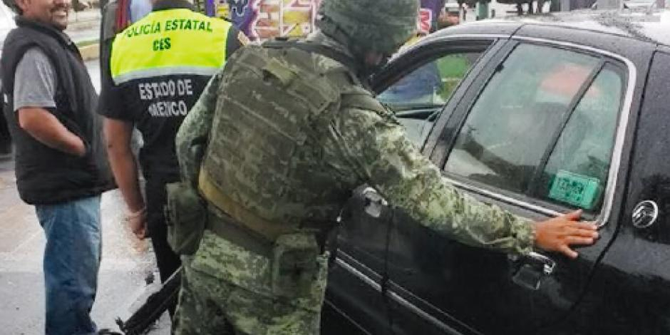 Vigila Ejército  zona de Chalco