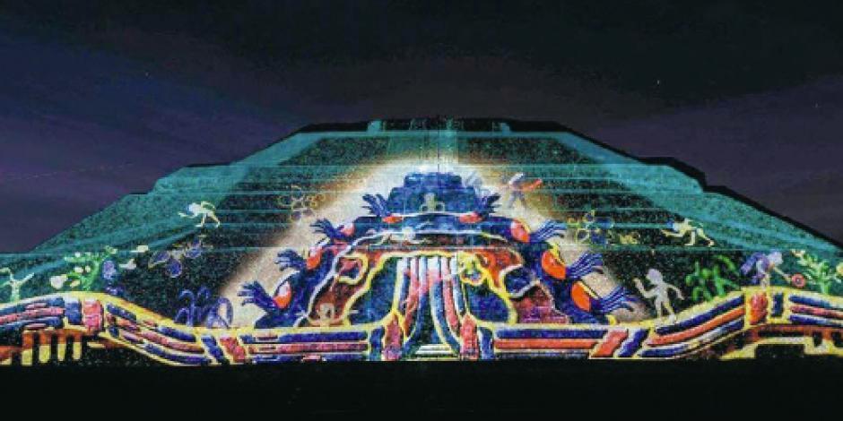Iluminan la historia  de la pirámide dedicada a Ehécatl