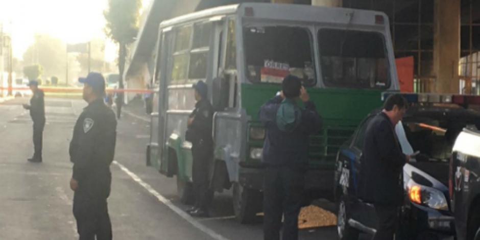 Asesinan a pasajero en Tláhuac