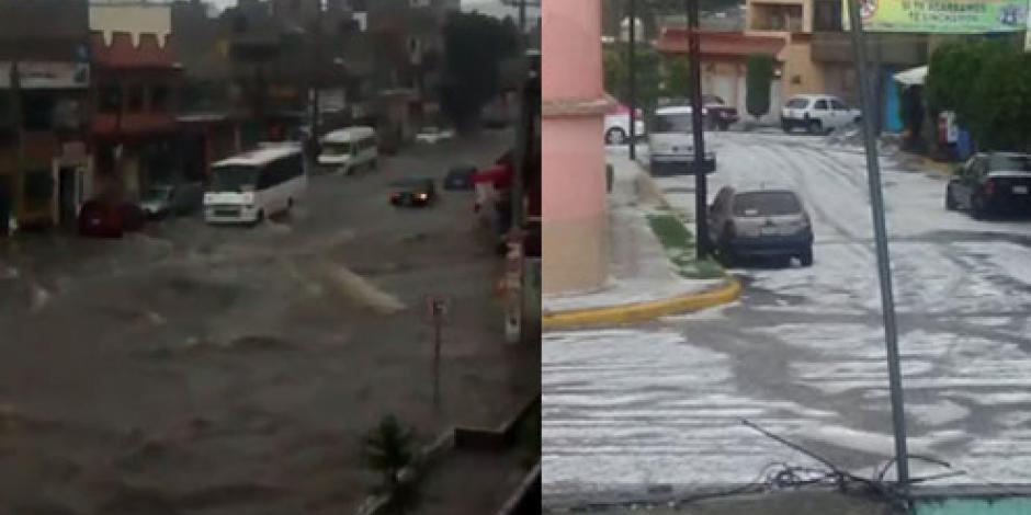 Atienden afectaciones por inundaciones y granizada en Tultitlán