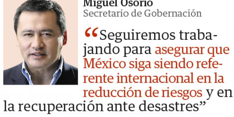 México busca prevenir ante catástrofes: Osorio