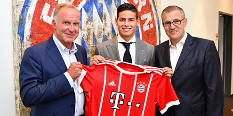 OFICIAL: James Rodríguez es el nuevo fichaje del Bayern Munich