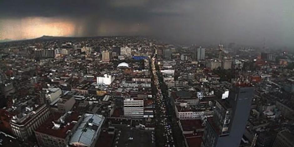 Reportan lluvia en 6 delegaciones de la Ciudad de México