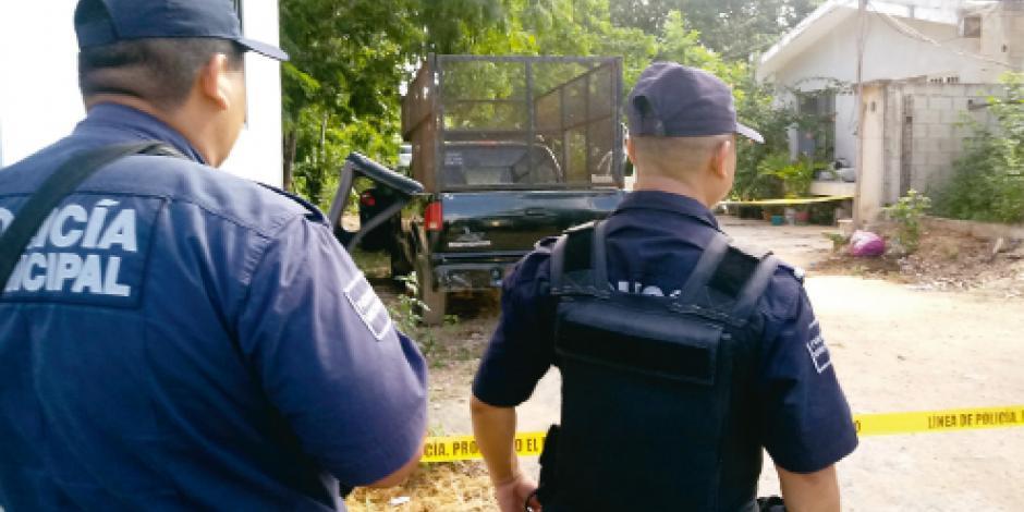Atacan a mando de policía en Q Roo al llegar a su vivienda