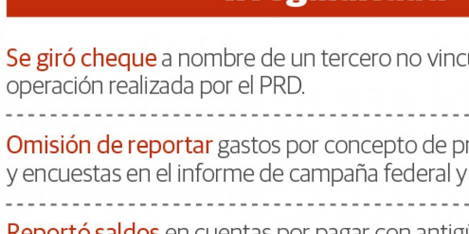 PRD no reportó spots y lo multan con 72.8 mdp