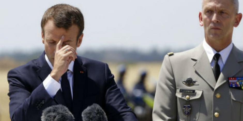 Popularidad de Macron en caída libre; baja 10 puntos en 2 meses