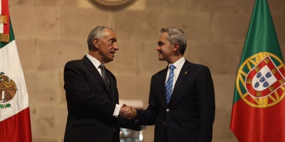 Nombra Mancera Espinosa huésped distinguido al presidente de Portugal