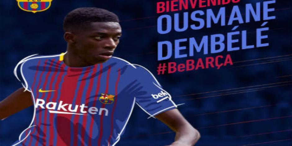 ¡Oficial! Ousmane Dembélé es nuevo jugador del Barcelona