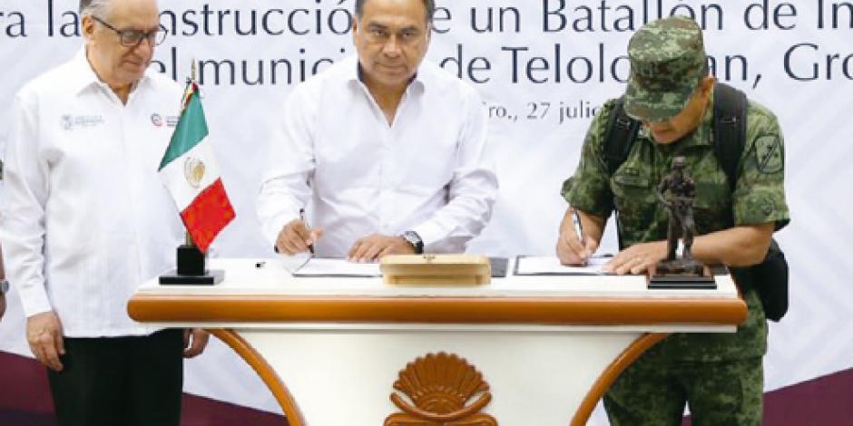 Acuerdan nuevo cuartel en Guerrero