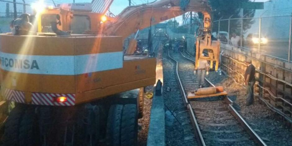 Rehabilitan L12 del Metro tras fallas en vías a causa del sismo