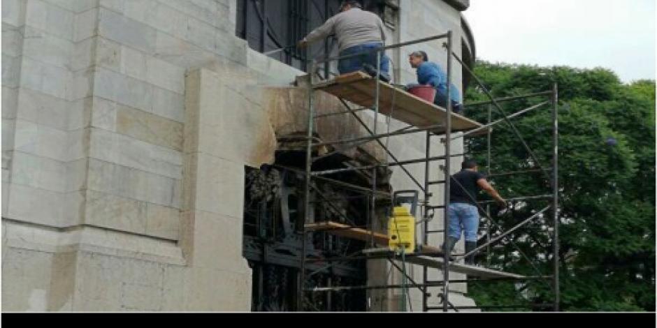 Conato de incendio deja afectaciones menores en Palacio de Bellas Artes