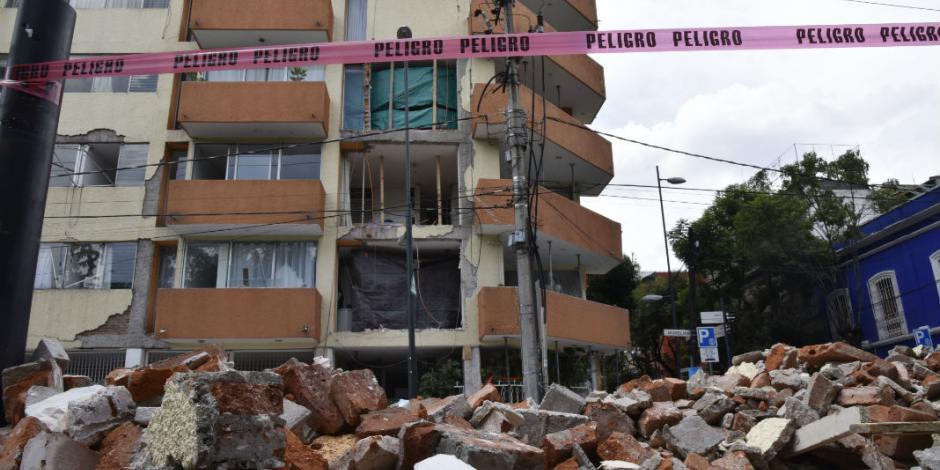 Suman 155 edificios en riesgo en la Cuauhtémoc tras sismo