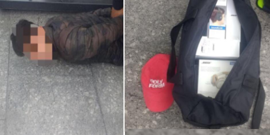 Tras robar Mixup, se enfrentan a tiros con policías en Reforma
