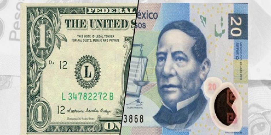 Cierra el dólar en 17.89 pesos en bancos de la CDMX