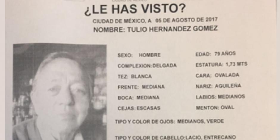 Desaparece en CDMX ex gobernador de Tlaxcala Tulio Hernández