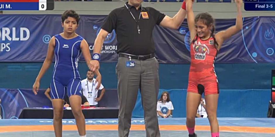 Julieta Martínez, primer tamaulipeca medallista en Campeonato Mundial de luchas