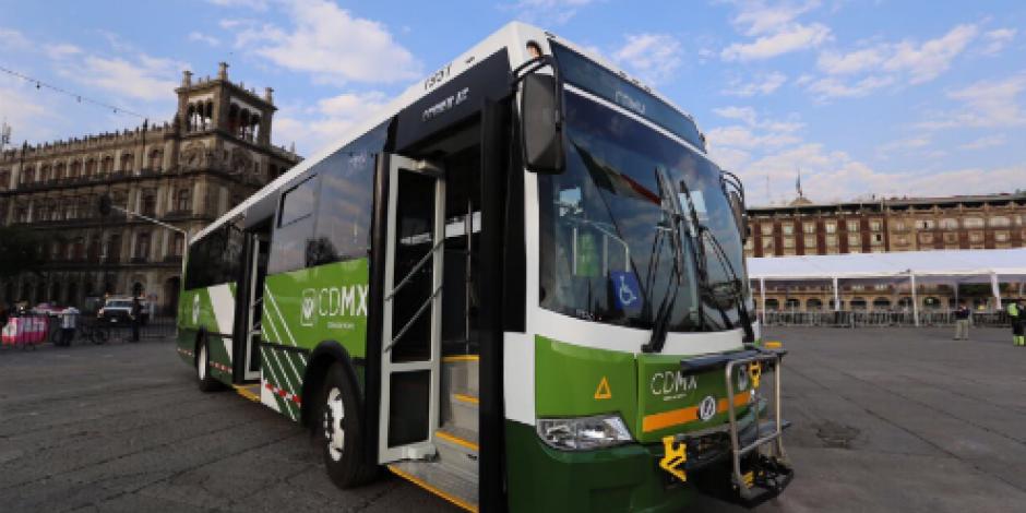 CDMX estrenó 74 autobuses con rampa, cámaras, entradas USB...